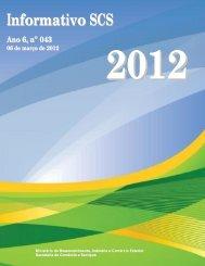 Informativo SCS - Ministério do Desenvolvimento, Indústria e ...