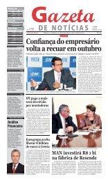 Confiança do empresário volta a recuar em outubro - Jgn.com.br