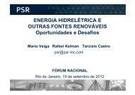 ENERGIA HIDRELÉTRICA E OUTRAS FONTES ... - Fórum Nacional
