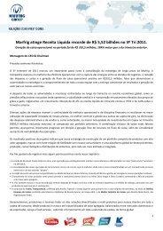 Marfrig atinge Receita Líquida recorde de R$ 5,52 bilhões no 3º Tri ...