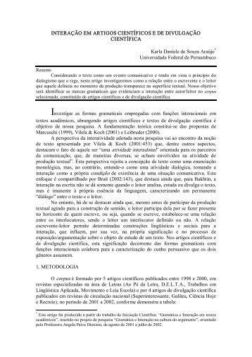 Karla Daniele de Souza Araújo - Revista Ao Pé da Letra
