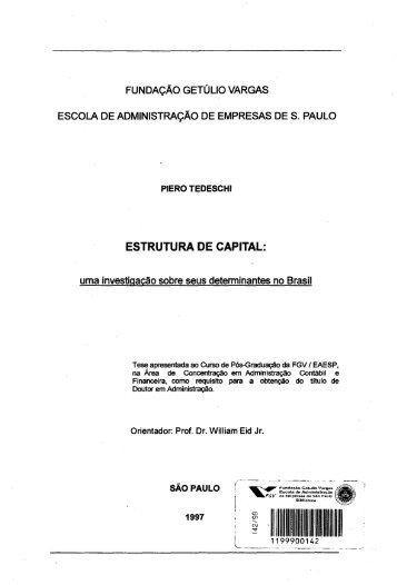 estrutura de capital - Sistema de Bibliotecas da FGV - Fundação ...
