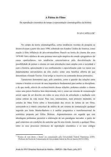 A Pátina do Filme - XXVI Simpósio Nacional de História