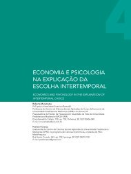 Economia e psicologia na explicação da escolha intertemporal