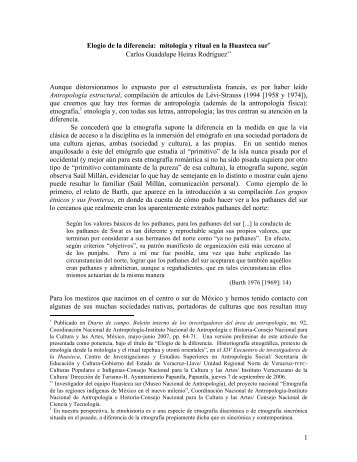 mitología y ritual en la Huasteca sur∗ Carlos Guadalupe Heiras ...