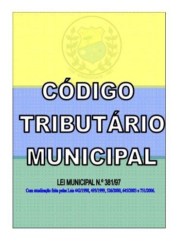 Código Tributário - Prefeitura Municipal de Brazópolis
