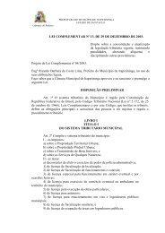 Lei Complementar nº 13 - Código Tributário Municipal - Prefeitura ...