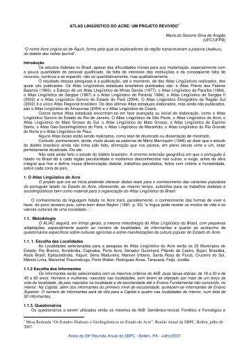 """Mesa Redonda """"Os Estudos Dialetais e Geolingüísticos no"""