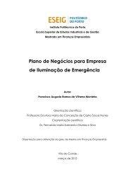 Plano de Negócios para Empresa de Iluminação de Emergência