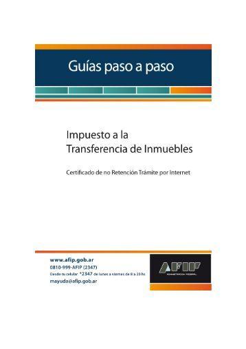 Impuesto a la Transferencia de Inmuebles - Afip