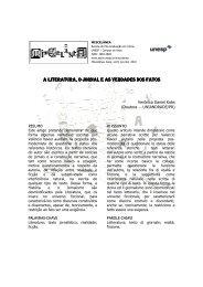A LITERATURA, O JORNAL E AS VERDADES DOS FATOS - Unesp