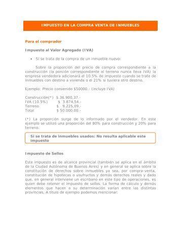 Impuestos en la compra venta de inmuebles - Banco Galicia