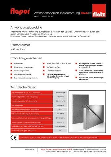 Anwendungsbereiche Plattenformat Technische Daten ...