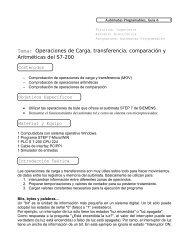 Tema: Operaciones de Carga, transferencia, comparación y ...