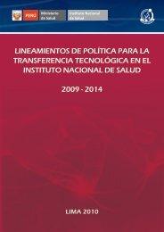 lineamientos de política para la transferencia tecnológica en el ...