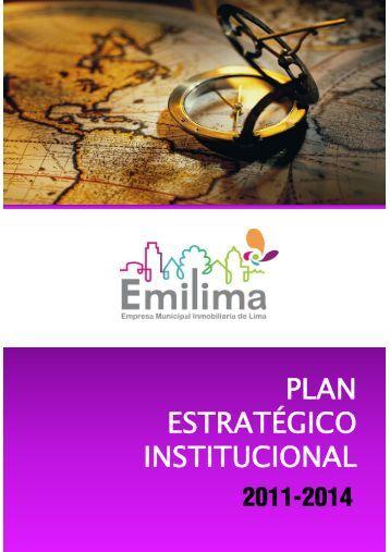 Plan Estratégico Institucional 2011-2014 - Empresa Municipal ...