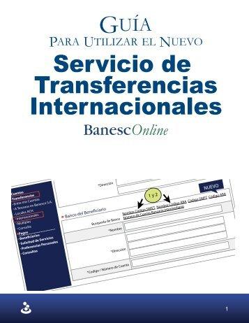 Nuevo Servicio de Transferencias Internacionales - Banesco