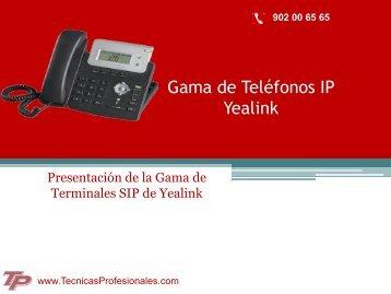 Teléfonos IP Yealink - Técnicas Profesionales