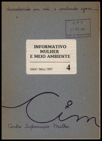 INFORMATIVO MULHER E MEIO AMBIENTE - Centro de ...