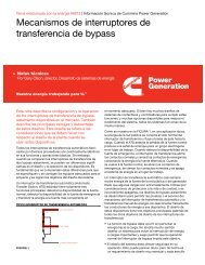 Mecanismos de interruptores de transferencia de ... - Cummins Inc.