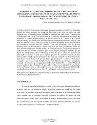 (des)articulação entre teoria e prática nos cursos de letras - 2