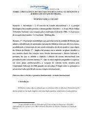 1 SOBRE A PREVALÊNCIA DO TRATADO INTERNACIONAL NA ...
