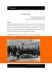 A Comuna de Paris - Revista Contemporâneos