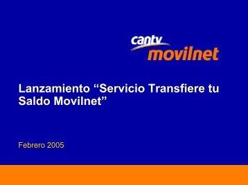 Transfiere tu Saldo Movilnet - Cantv