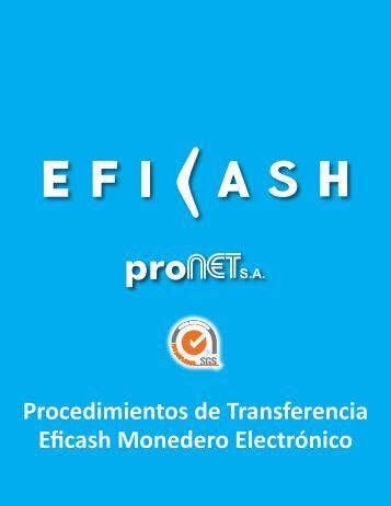 Procedimientos de Transferencia Eficash Monedero Electrónico