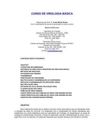 CURSO DE VIROLOGIA BÁSICA - ufrgs