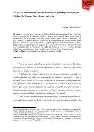 Marcas da reforma do Estado no Brasil: uma ... - Cultura Digital