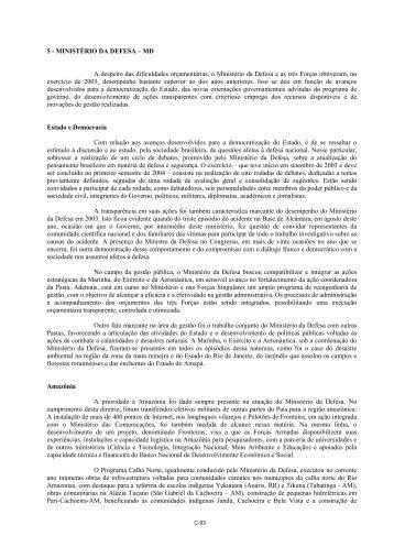 MINISTÉRIO DA DEFESA - Controladoria-Geral da União