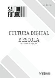 Cultura Digital e Escola - Portal do Professor - Ministério da Educação