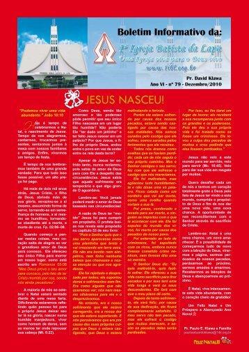 JESUS NASCEU! - Igreja Batista da Lapa