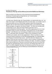 Prinzipien hochschuldidaktischer Workshopgestaltung - Constructif.de