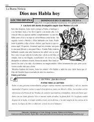 lectio divina 20 marzo 2011