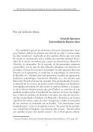 Por un realismo idiota - Centro de Estudios de Literatura Argentina