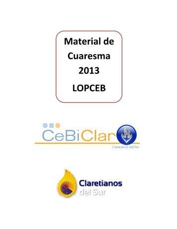 Material de Cuaresma 2013 LOPCEB