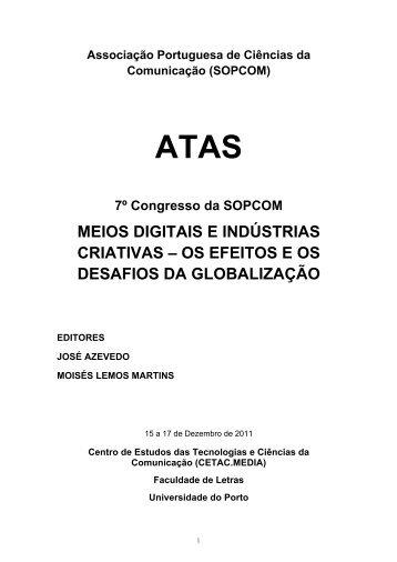 meios digitais e indústrias criativas – os efeitos e os desafios da ...