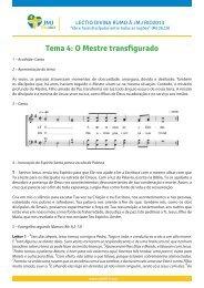 Tema 4: O Mestre transfigurado - JMJ Rio 2013