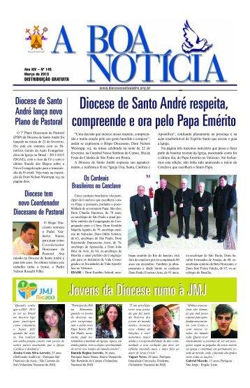 Jornal a Boa Notícia – Março de 2013 - Diocese de Santo André