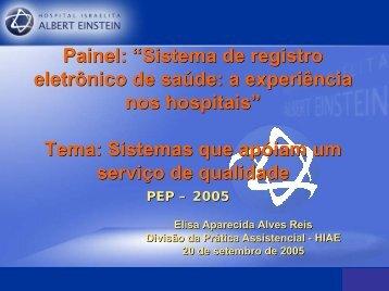Elisa Aparecida Alves Reis - SBIS