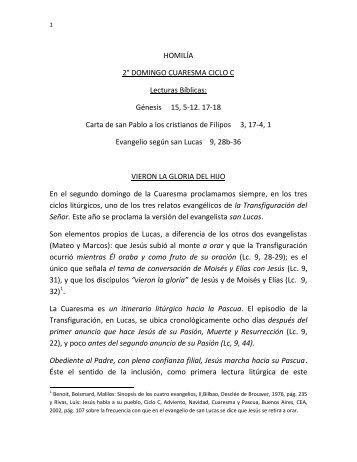 HOMILÍA 2° DOMINGO CUARESMA CICLO C ... - Homiletica.org