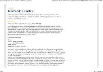 Correio Braziliense - Revista do Correio ... - Troca de Casas