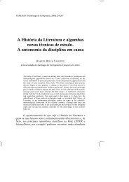 A História da Literatura e algumhas novas técnicas de estudo. A ...