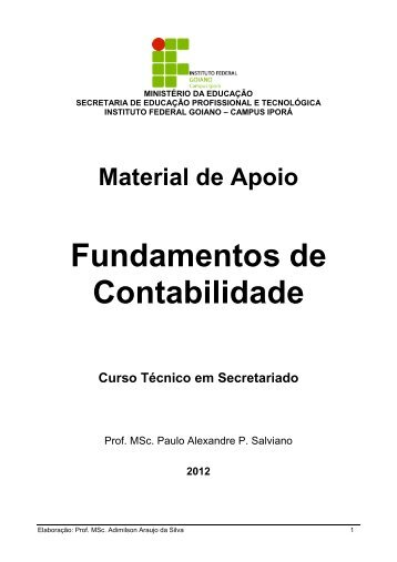 Material de Apoio - Instituto Federal Goiano