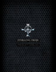 Product Catalog - Sterling Cross Defense Systems Corp.