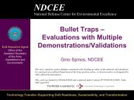 Bullet Traps – Evaluations with Multiple Demonstrations ... - NDCEE