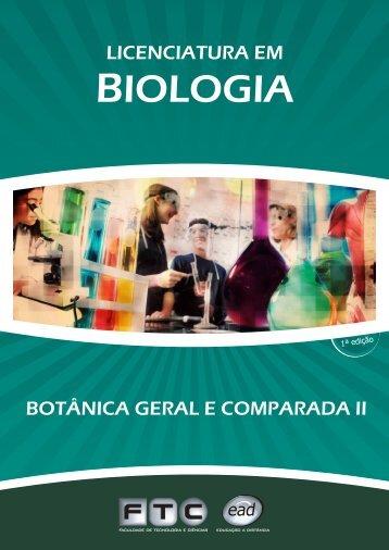 botânica geral e comparada ii - ftc ead - faculdade