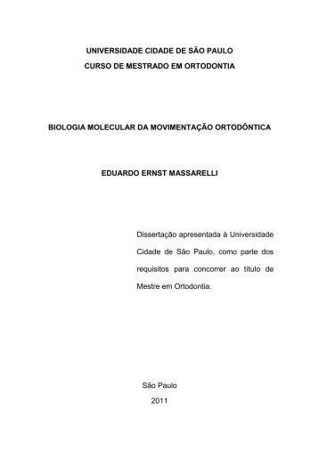 Biologia Molecular da Movimentação Ortodôntica - Unicid